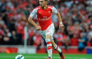 Aaron Ramsey, jugador del Arsenal de Inglaterra.