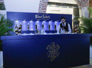 Barra de coctel Blue Label.