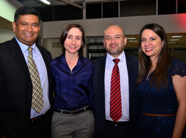 <div></noscript>Fernando Moreno, Isabel Arboleda, Óscar Lauton y Belkis Agudelo.</div>