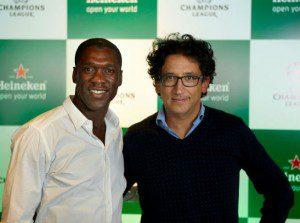 Clarence Seedorf y Antonio Casale.
