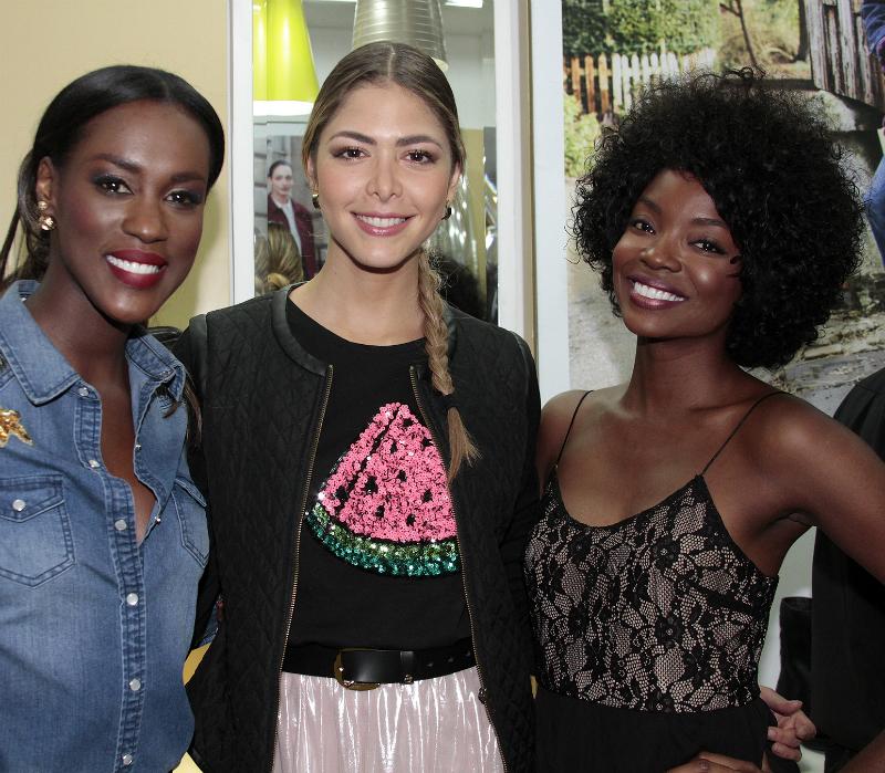 Cladia Lozano, Viviana Dávila y Ana Mosquera.