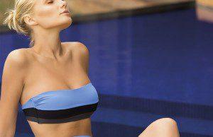 Bikini top strapless, Touché