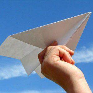 Un avioncito de papel