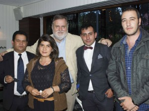 Juan Bautista, Jessica Bonilla, Jorge Coderch Mitjans, Felipe Barrera y José Agustín Jaramillo.