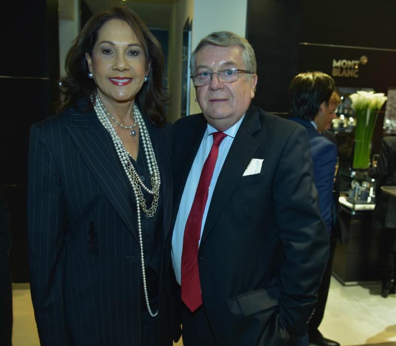 Lola de la Cruz y Fabio Pineda.