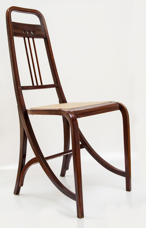 Silla art déco, madera tallada, Michel Thonet