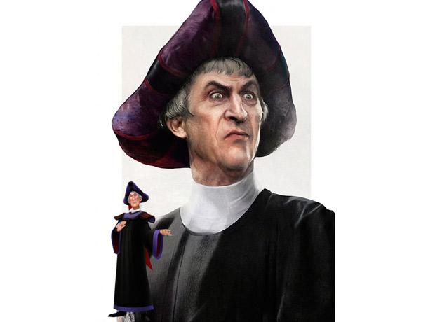 Claude Frollo, El jorobado de Notre Dame.