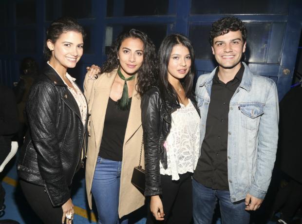 Abril Schreiber, Laura Junco, Laura Osma y Miguel González.