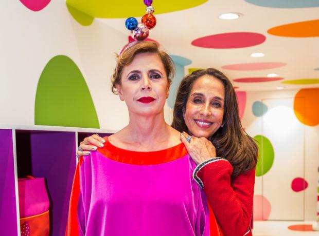 Ágatha Ruiz de la Prada y Pilar Castaño.