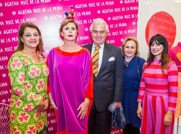 Luz Dary Gómez, Ágatha Ruiz de la Prada, Ramón Gandarias, Patricia Hernández y Natalia Muñoz.