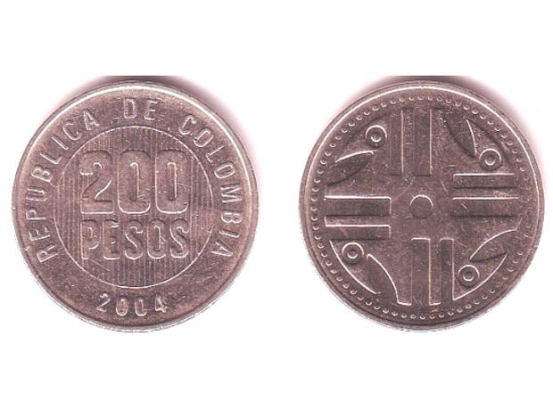 Doscientos pesos colombianos (1994).