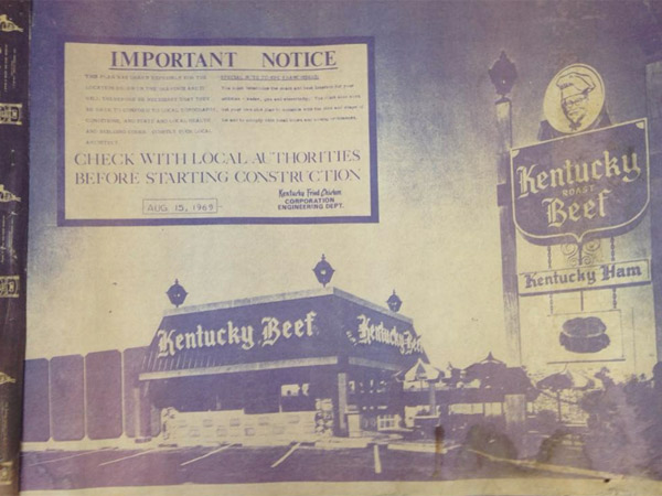 Restaurante Kentucky Roast Beef, 1971.
