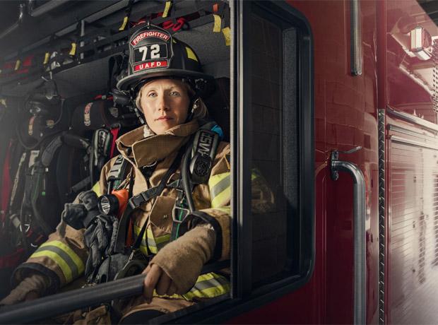 Mindy Gabriel, bombera de Filadelfia.