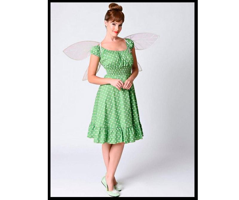 Vestido inspirado en Campanita de Peter Pan.
