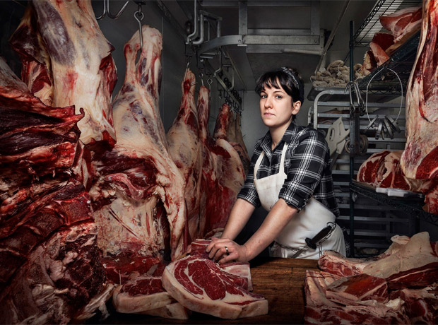 Heather Marold Thomarson, carnicera de Primal Supply Meats en Filadelfia.