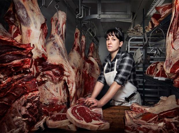 Heather Marold Thomarson, carnicera de Primal Supply Meats en Filadelfia.