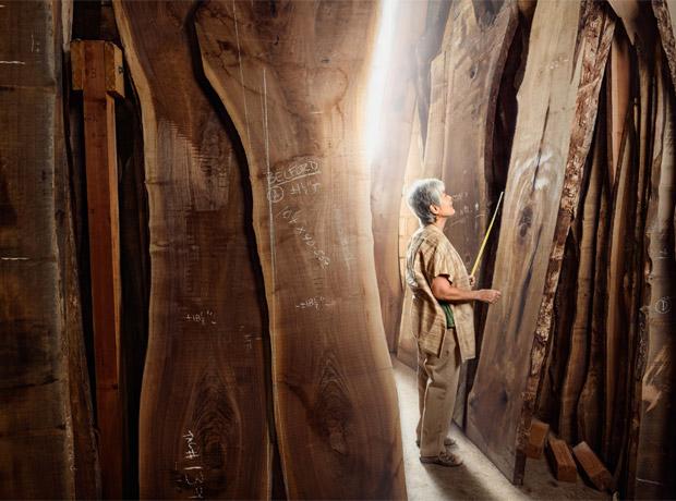 Mira Nakashima, carpintera y diseñadora.