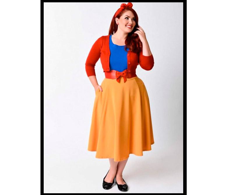 Vestido inspirado en Blanca Nieves.