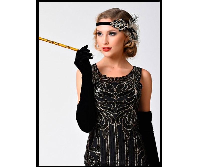 Vestido inspirado en Cruella de Vil de 101 Dalmatas.