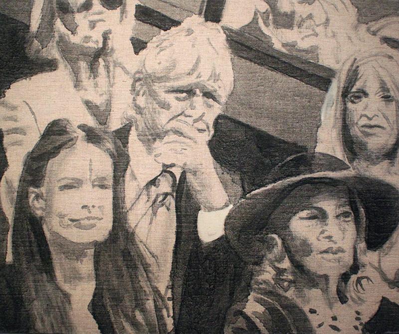 Oléo sobre tela: Espectadores, autor: Julian Burgos. Tomado de: arcot.com.co