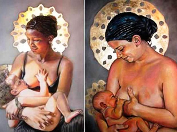 La ilustradora Kate Hansen pintó a dos mujeres amamantando, y en menos de 3 horas, Facebook eliminó su pintura. Luego la red social afirmó que se trató de un error.