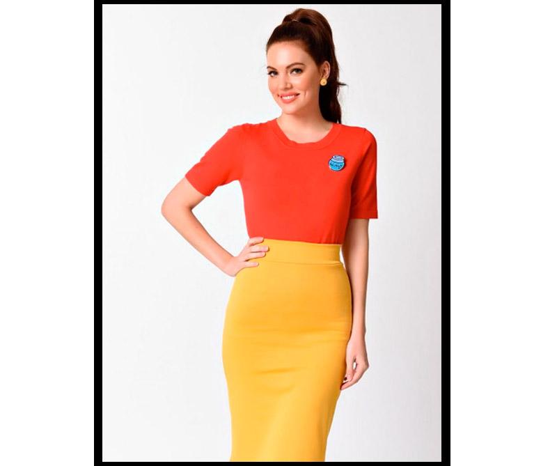 Blusa y falda inspirados en Winnie The Pooh.