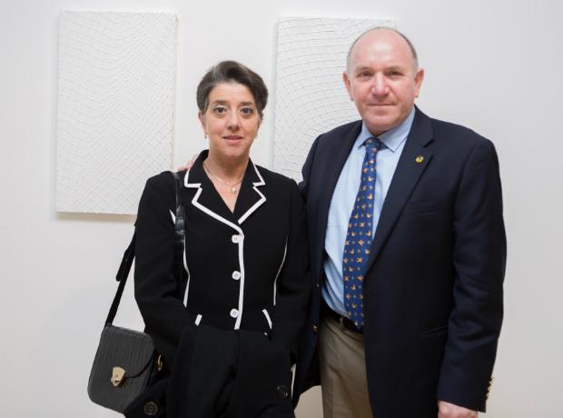 <div>María Fernanda Londoño Morelli y Gilberto Ballesteros.</div>