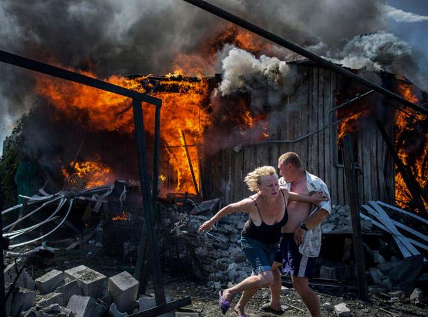 Proyecto de largo plazo: tomada por Valery Melnikov para Rossia Segodnya. Título de la foto: Black Days of Ukraine.