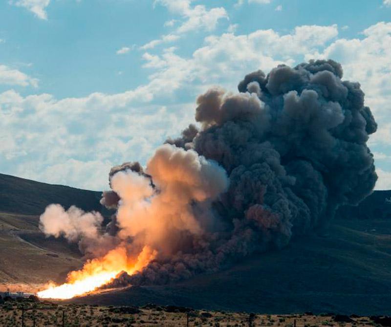 Prueba de cohete Supermoon. Foto: NASA