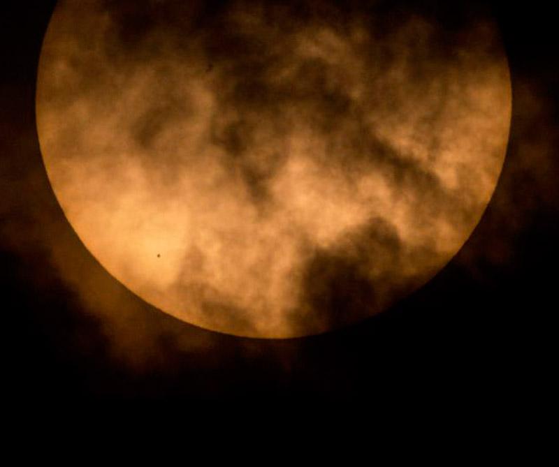 Tránsito solar de Mercurio Foto: NASA