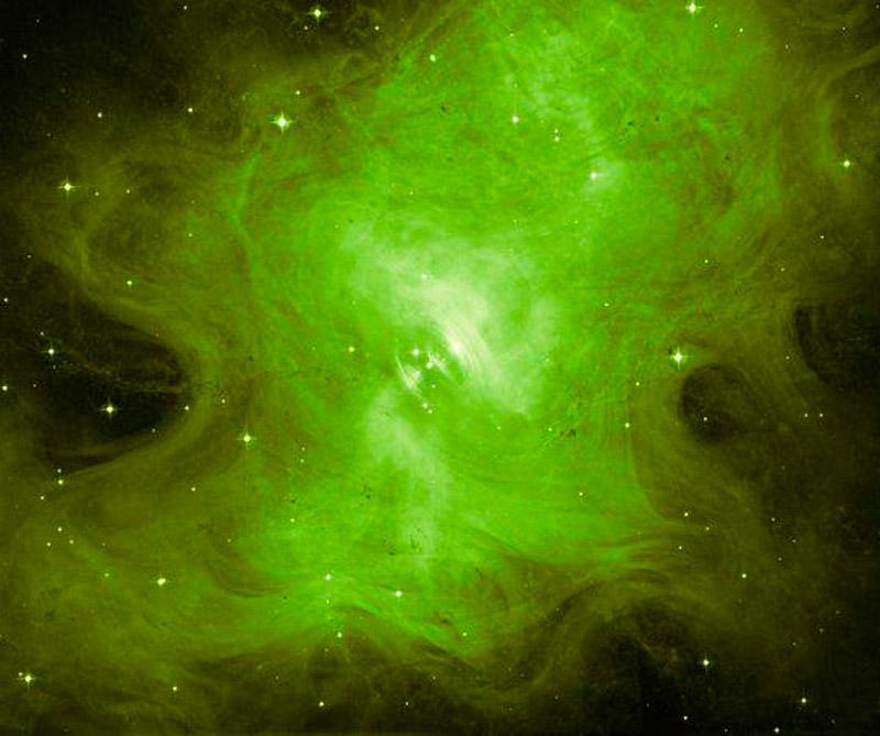 Resplandor fantasmal de una estrella muerta. Foto: NASA