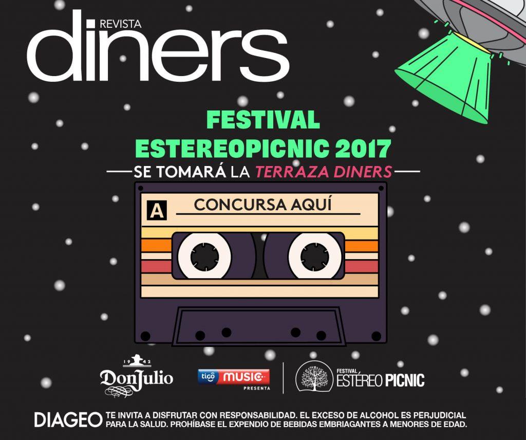 Invitaremos a diez lectores con un acompañante al próximo evento de #SuenaDiners con el Festival Estéreo Picnic.