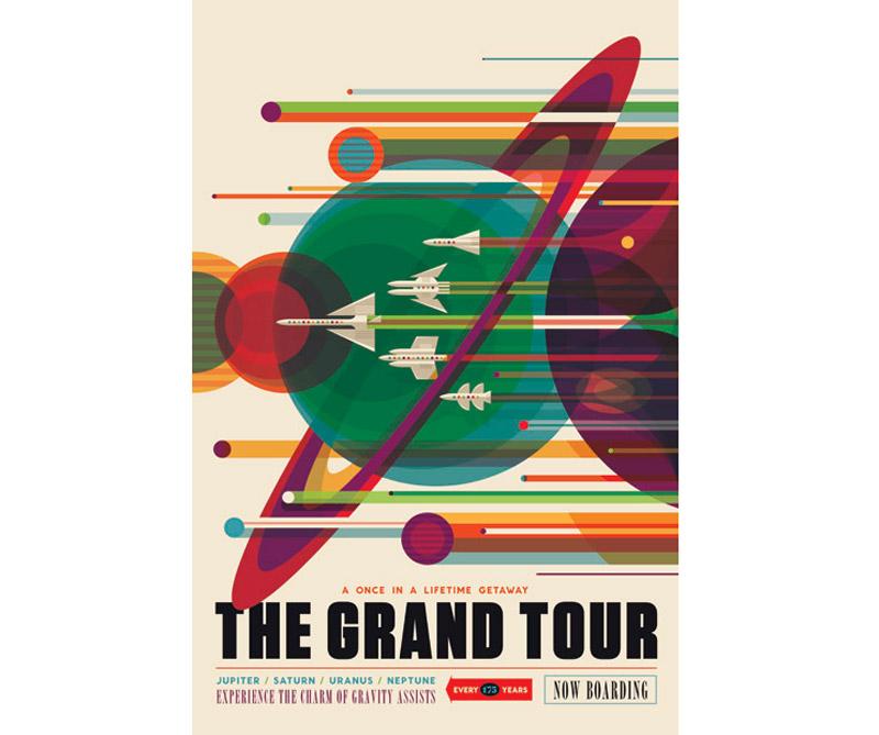 La misión Voyager de la NASA aprovechó una alineación de los planetas exteriores de una vez cada 175 años para una gran gira por el sistema solar. La nave espacial gemela reveló detalles sobre Júpiter, Saturno, Urano y Neptuno usando la gravedad de cada planeta para enviarlos al siguiente destino.
