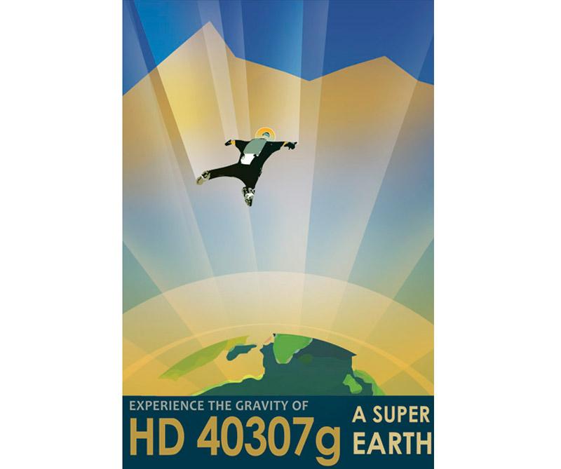 """Dos veces más grande que la Tierra, HD 40307g se extiende a lo largo de la línea entre """"Super-Tierra"""" y """"mini-Neptuno"""" y los científicos no están seguros si tiene una superficie rocosa o que está enterrada bajo gruesas capas de gas y hielo."""