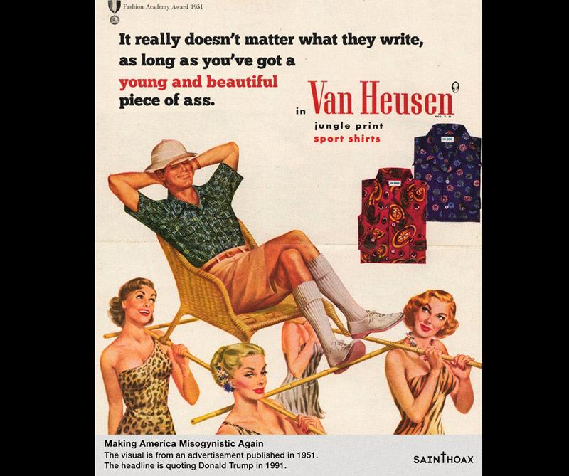 """<div>""""No importa realmente lo que ellos escriban, siempre y cuando tengas un joven y hermoso trasero""""</div>"""