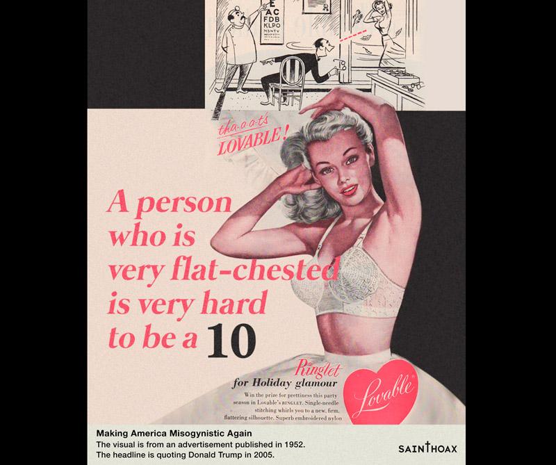 """<div>""""Una persona con el pecho muy plano es muy difícil de calificar con un 10""""</div>"""