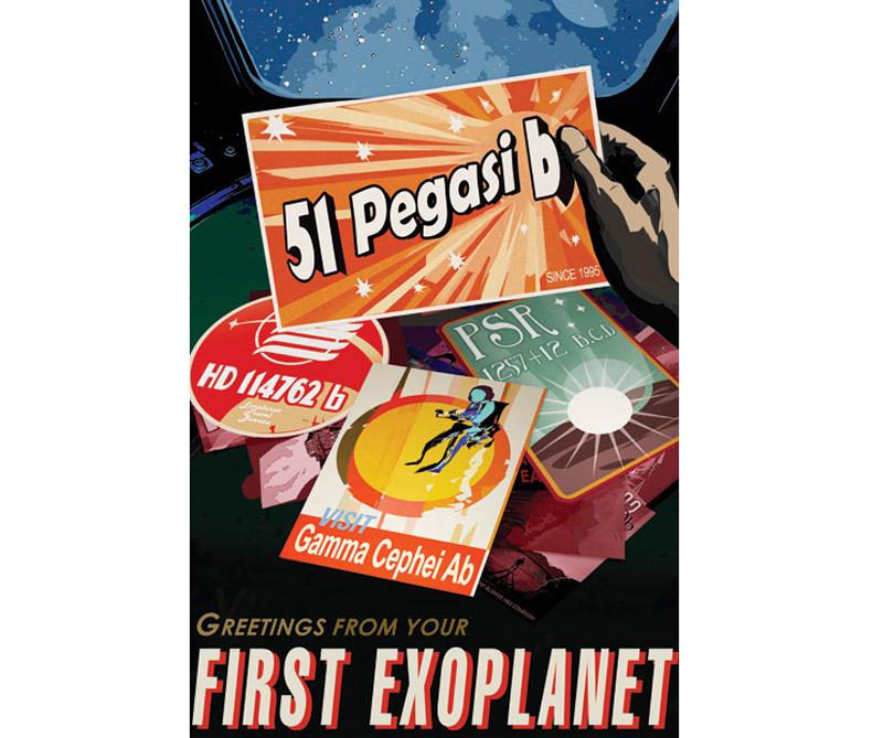 """Si bien hay mucho debate sobre el cual el descubrimiento exoplanetario se considera el """"primero"""", uno se destaca del resto. En 1995, los científicos descubrieron 51 Pegasi b, cambiando para siempre la forma en que vemos el universo y nuestro lugar en él. El exoplaneta es aproximadamente la mitad de la masa de Júpiter, con una aparentemente imposible órbita estrellada de sólo 4.2 días terrestres."""