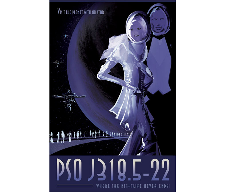Descubierto en octubre de 2013 con imágenes directas, PSO J318.5-22 pertenece a una clase especial de planetas llamados planetas deshonestos o flotantes. Vagando solos en la galaxia, no orbitan una estrella paterna. No se sabe mucho sobre cómo estos planetas vienen a existir, pero los científicos teorizan que pueden ser estrellas o planetas fallidos expulsados de sistemas muy jóvenes después de un encuentro con otro planeta.