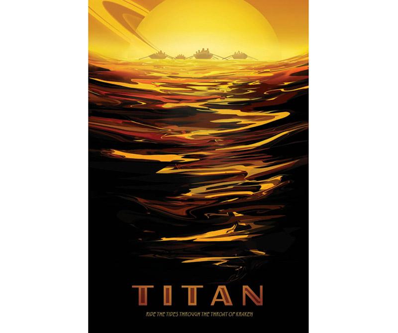 Frígida y extraña, pero similar a nuestro planeta hace miles de millones de años, la luna más grande de Saturno, Titán, tiene una atmósfera gruesa, una química orgánica y una superficie formada por ríos y lagos de etano y metano líquidos.
