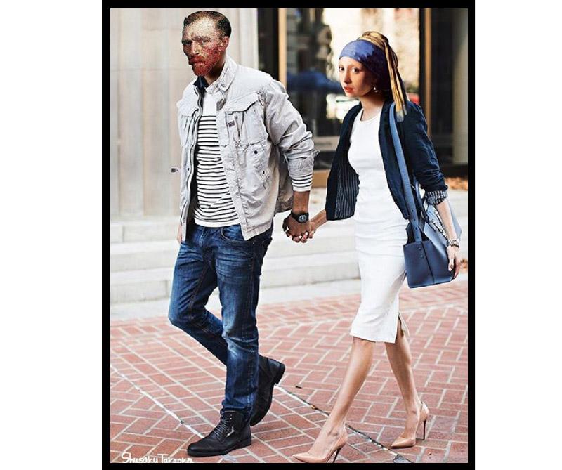 Van Gogh y la joven de Vermeer.