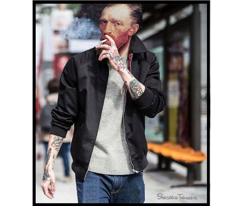 Van Gogh fumando.
