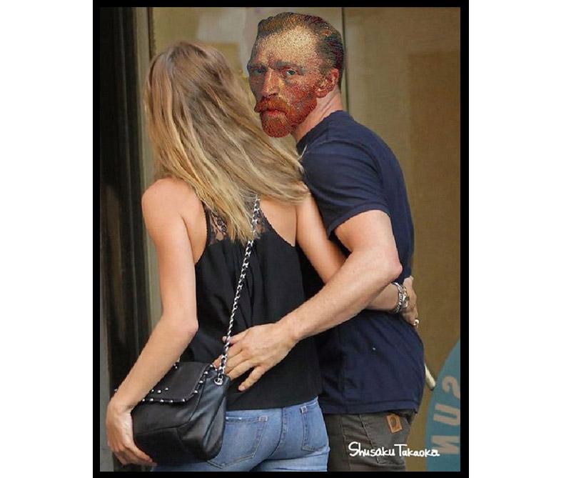 Vincent Van Gogh y su mujer.
