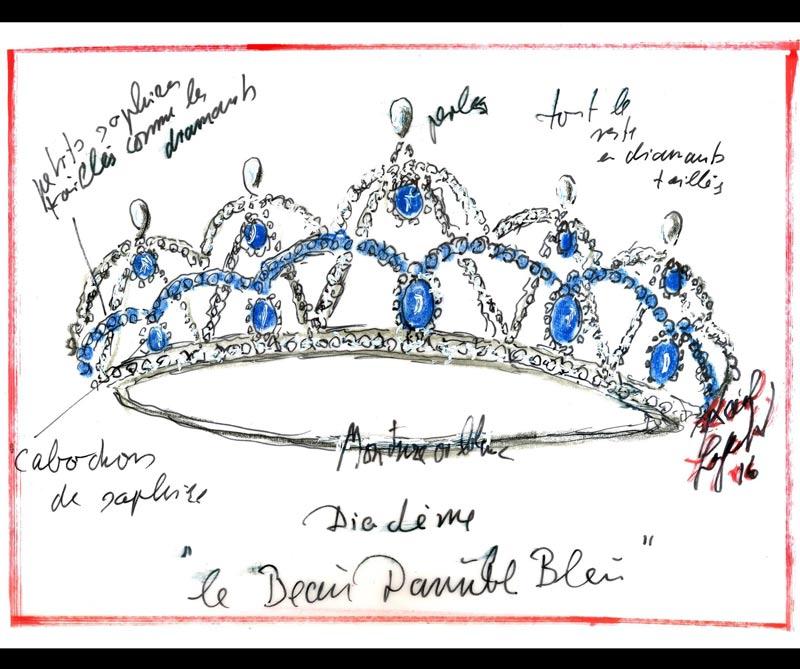 <div>La tiara diseñada por Karl Lagerfeld para Swarovski</div>