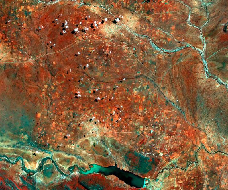 Botsuana (África austral) Foto: Satélite Sentinel-2A.