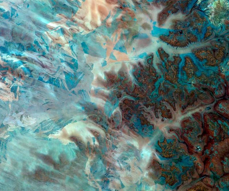 Desierto Gibson (Australia). Foto: Satélite Sentinel-2A.
