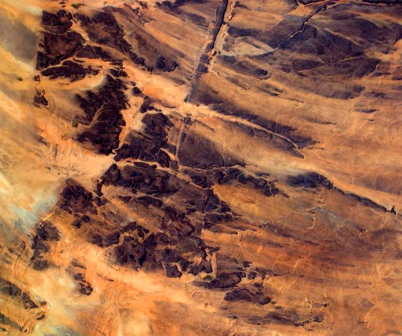 Desierto del Sáhara (África). Foto: Estación Espacial Internacional.