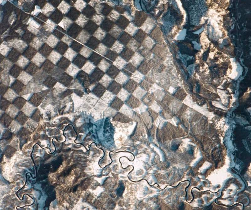 Bosques explotados de Idaho (Estados Unidos) Foto: Satéite ISS.