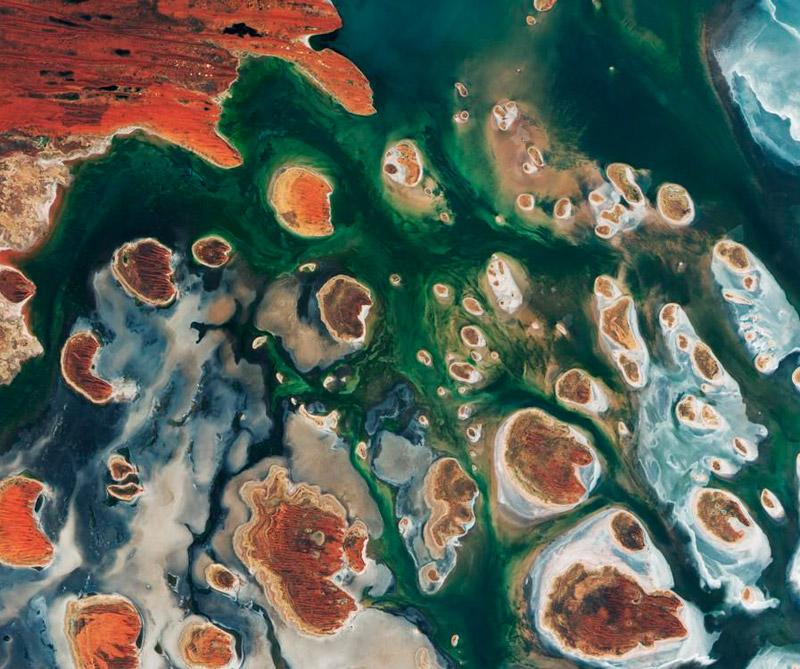 Lago Mackay (Australia). Foto: Satélite Copérnico.