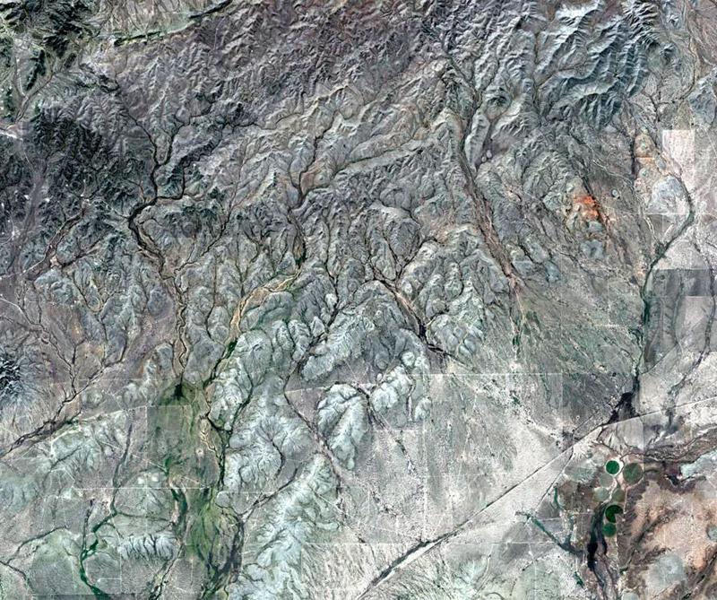 Desierto de Texas (Estados Unidos) Foto: Satélite Sentinel 2A.