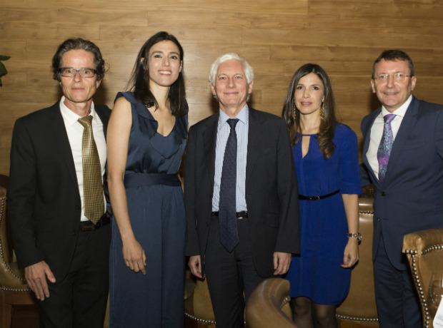 <div>Maurice Bernard, Cecile Renaudo, Jean Marc Laforet, Natalia Cardenas y Laurent Charpin.</div>